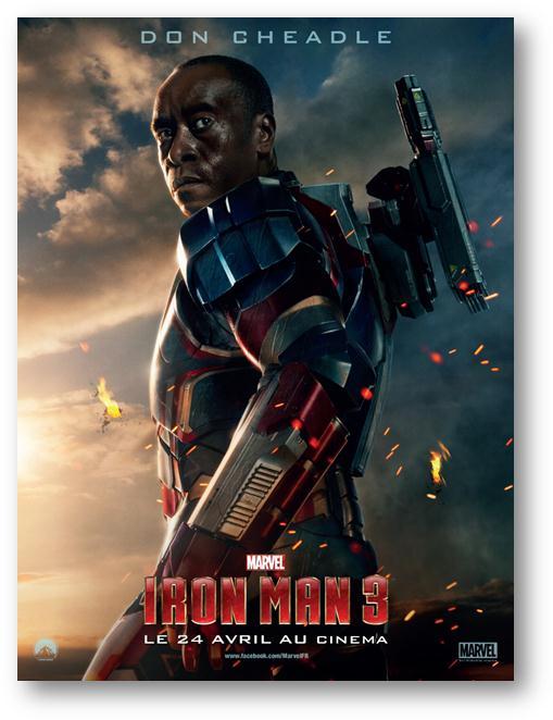 Iron Man 3 : Découvrez la 1ère affiche personnage avec Don Cheadle