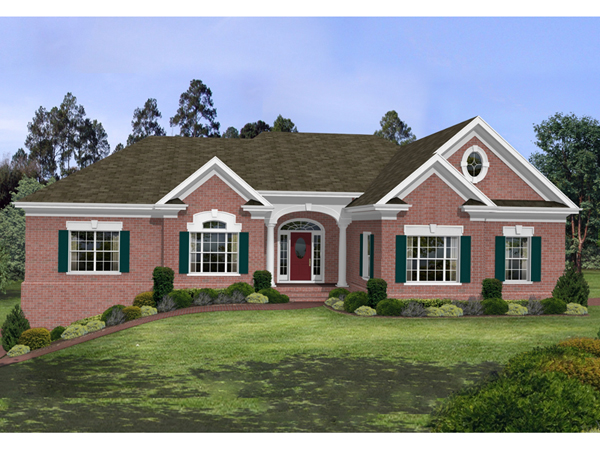 Brick vector picture brick ranch house plans for Brick home floor plans with pictures