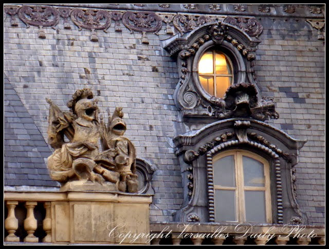 LIght in the window at Versailles palace