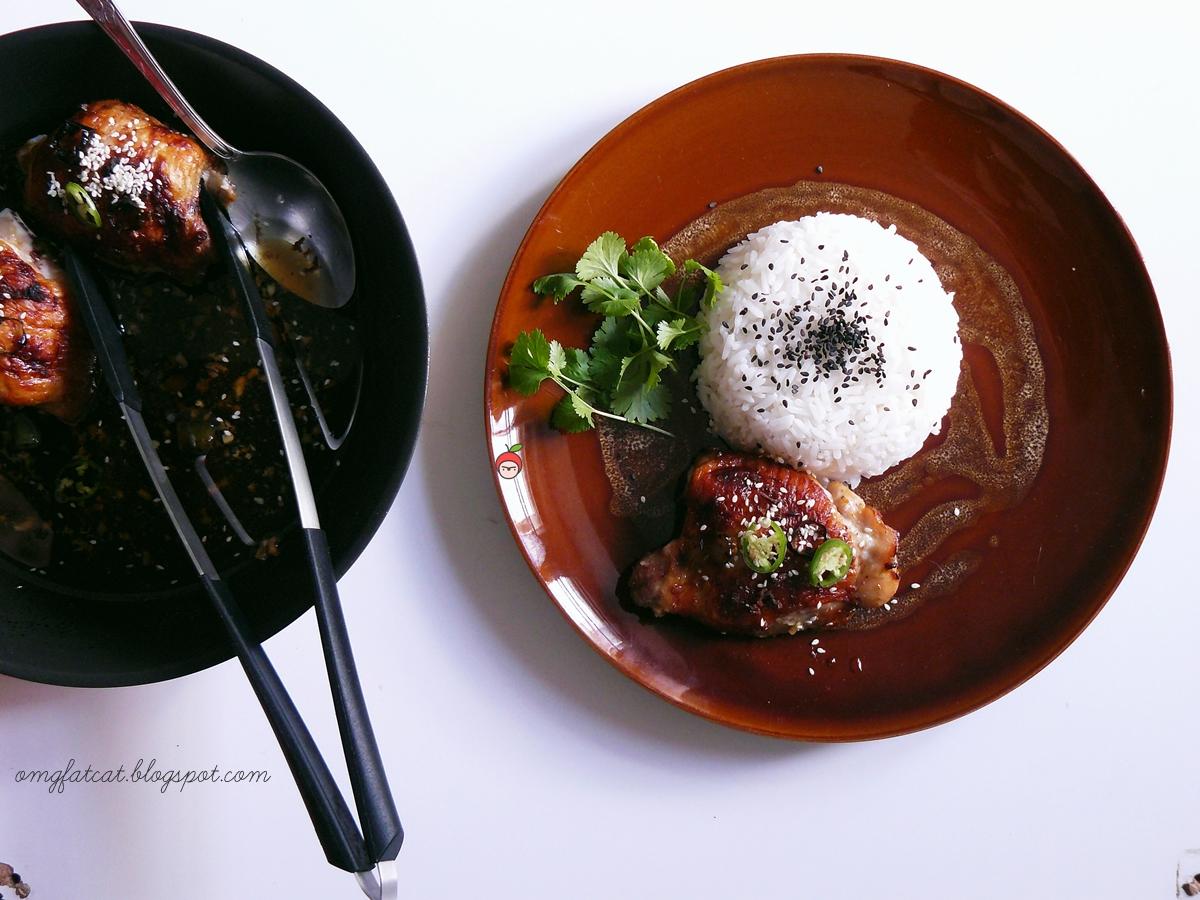 asian honey baked chicken thights miodowe azjatyckie pieczone podudzia kurczaka w miodowej marynacie