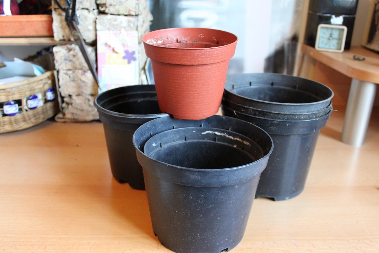 a journey to a dream: plastic plant pot revamp!
