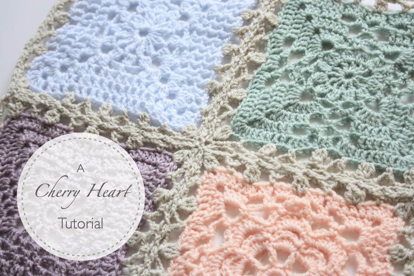 Crochet Patterns Joining Squares : Cherry Heart: Blog: Lacy Blanket Join