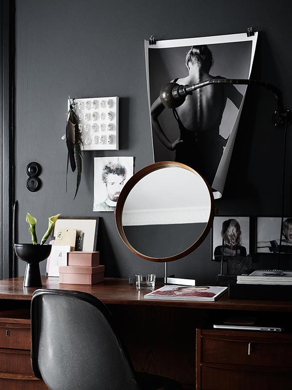 Hitta hem: Mörka väggar med fina kontraster