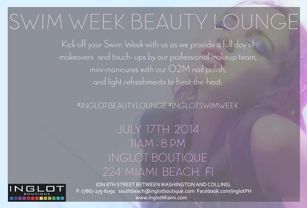 Inglot Boutique Miami Beach, event, makeup