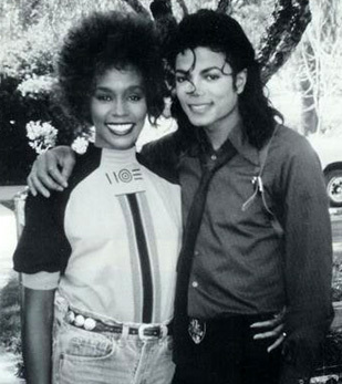 The Page with RoyalKevWhitney Houston And Michael Jackson Kissing