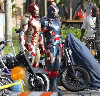 new Iron Man armor, Iron Patriot, Iron Man 3 armor, Marvel Studios, Capes on Film