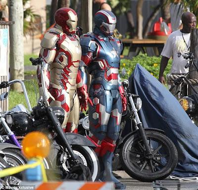 new Iron Man armor, Iron Patriot, Iron Man 3 armor, Marvel Studios, Capes on Film