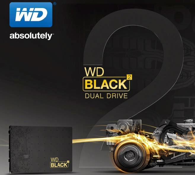 WD Black2 Dual Drive, SSD+HDD In One