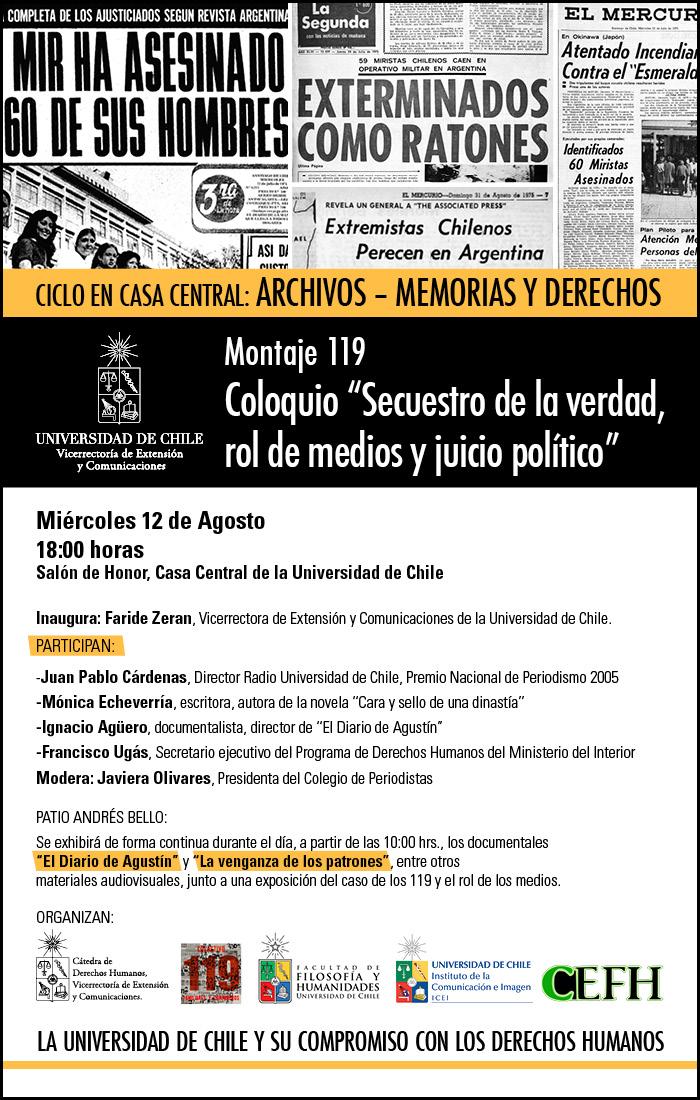 """INVITACIÓN COLOQUIO: """"Secuestro de la verdad, rol de medios y juicio político"""""""