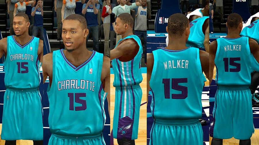 NBA 2K14 Charlotte Hornets Jersey Mods