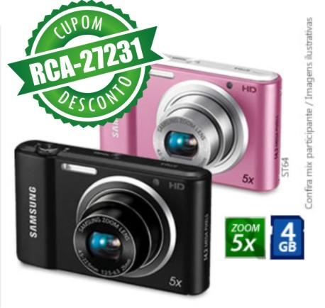 Cupom Efácil - Câmera Digital Samsung ST64 14.2MP