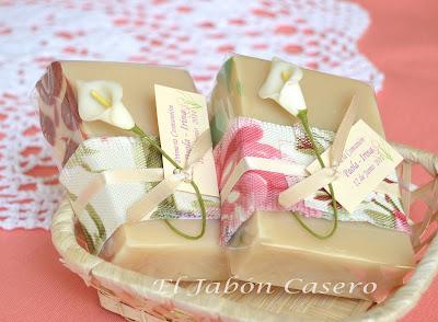 Jabones naturales para detalles de boda