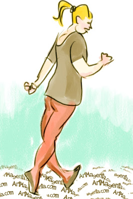 The  ecologist from Riverside is a gesture drawing by Artmagenta