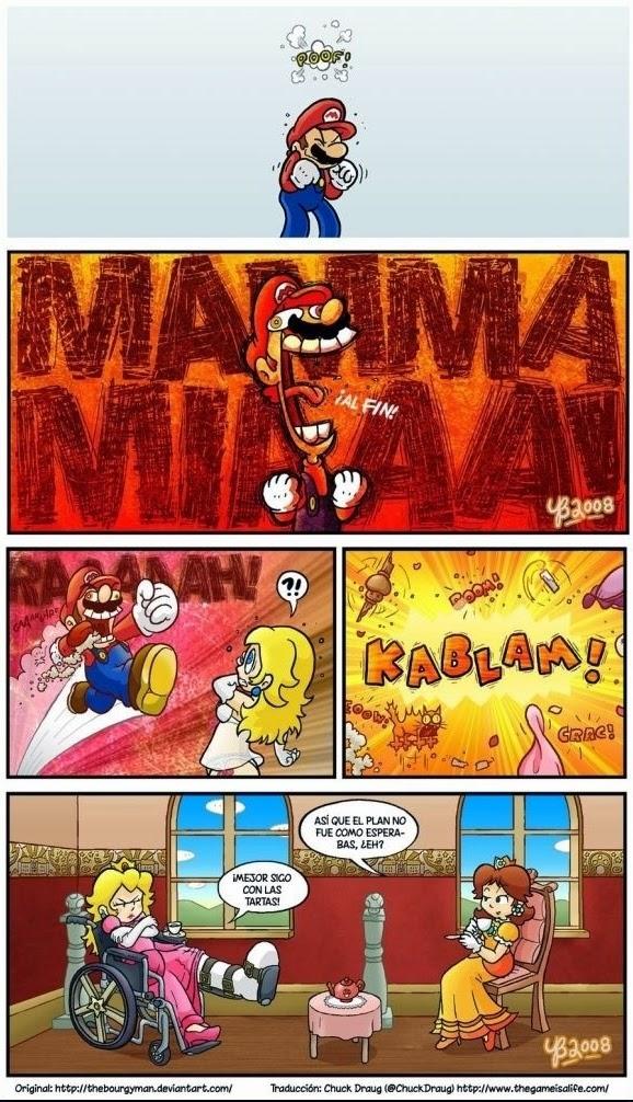 Mario y Peach se disponen a consumar su amor