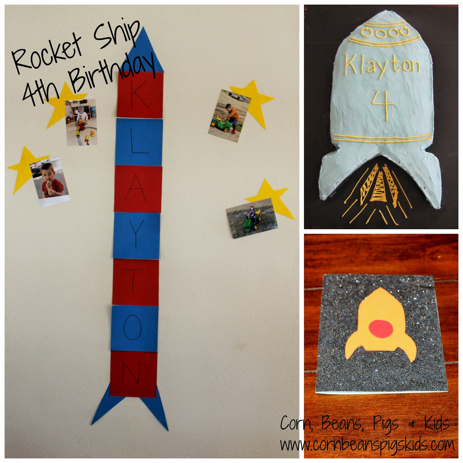 4 year old boy rocket ship birthday party