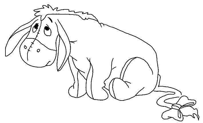 Colour me beautiful winnie the pooh friends colouring pages - Dessin bouriquet ...