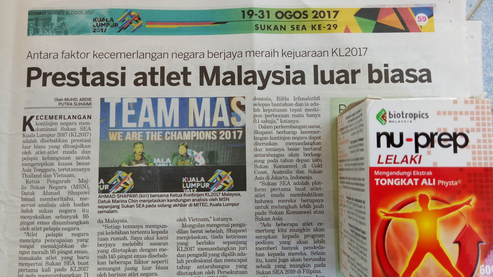 Kita Juara Sea Games 2017. Champion Rugby 7S