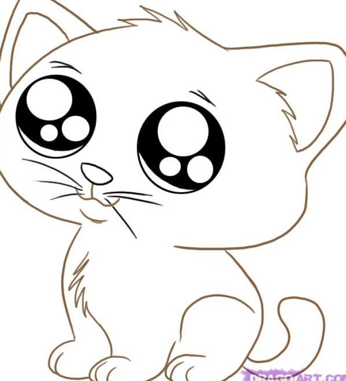 Coloring Pages Cute Animals : Cute cartoon animals coloring pages