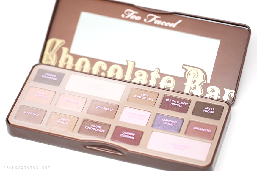 REVIEW & SWATCHES: Too Faced Chocolate Bar Palette | From Head To ...