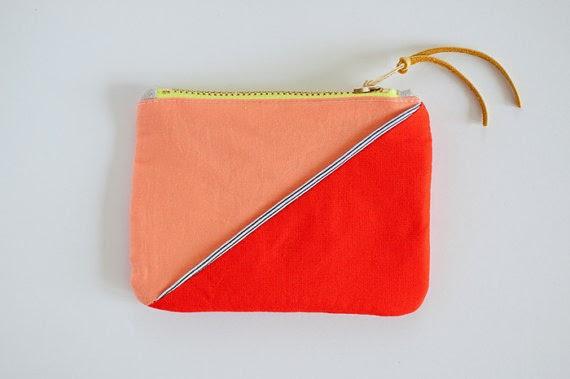 colorblock pouch