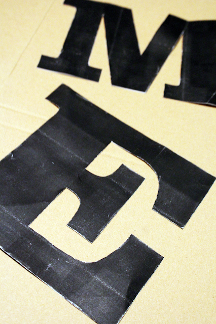 litery z kartonu,blog majsterkowanie DIY zrób to sam