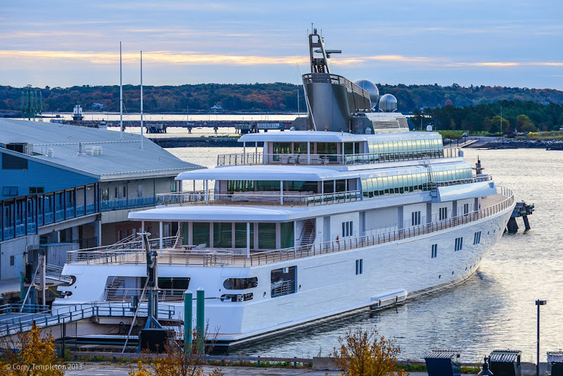 Rising Sun Yacht Docked in Portland, Maine. Photo by Corey Templeton.