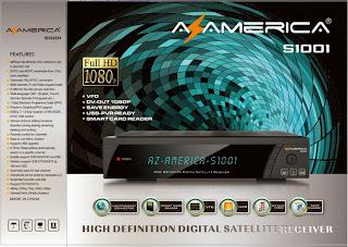 AZAMERICA S1001 LOADER + FIRMWARE DE RECUPERAÇÃO - 26/09/2013