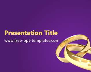 Purple wedding powerpoint templates free rings ppt template free powerpoint templates toneelgroepblik Choice Image