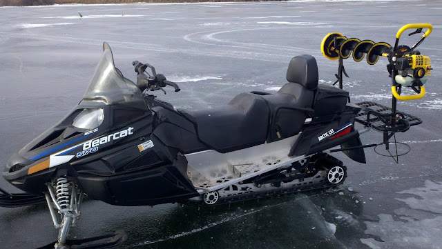 Snowmobile Ice Auger Holder4