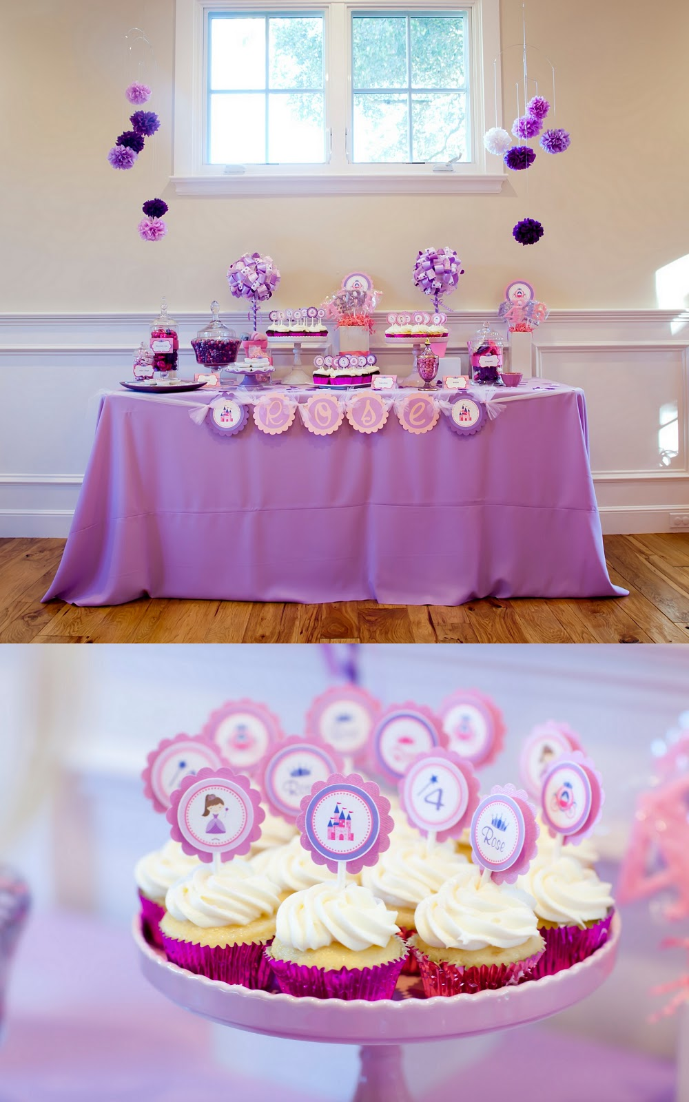 Pink & Purple Princess Birthday Party -Guest Feature on Hostess with ...