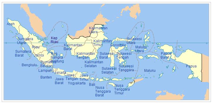 Revolusi Ilmiah - Peta 34 Provinsi di Indonesia