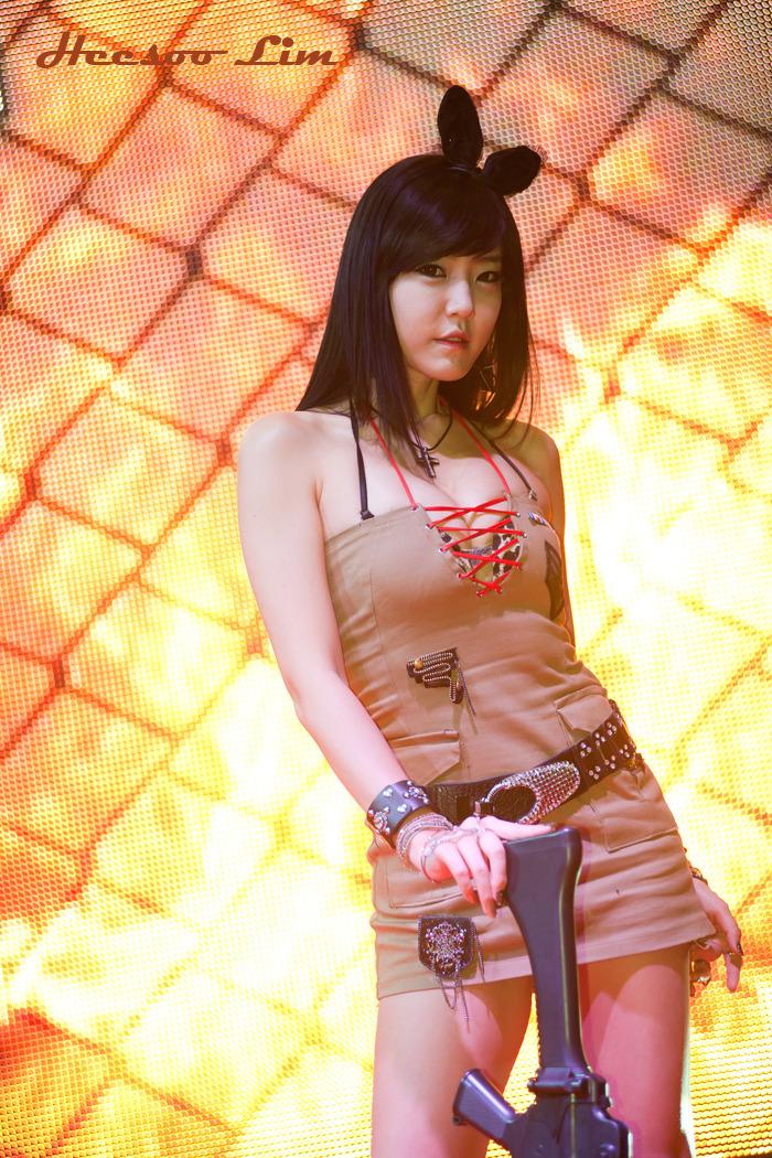 xxx nude girls: Yook Ji Hye at G-STAR 2012