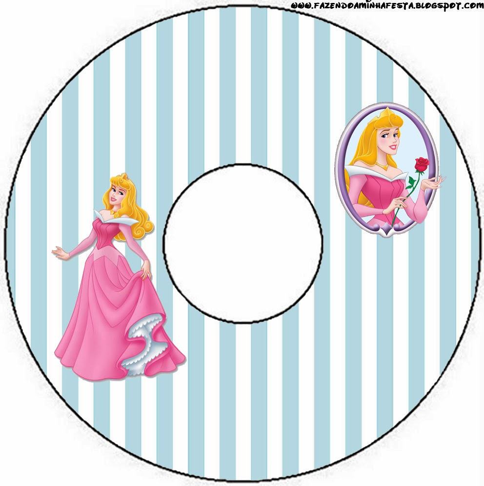 Etiqueta para CDs de Fiestas de la Bella Durmiente.