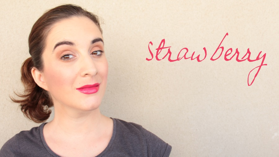 melted too faced strawberry swatch