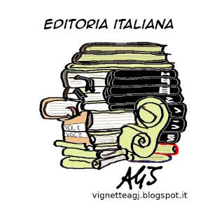 Mondadori, Rizzoli, RCS libri, berlusconi, vignetta satira