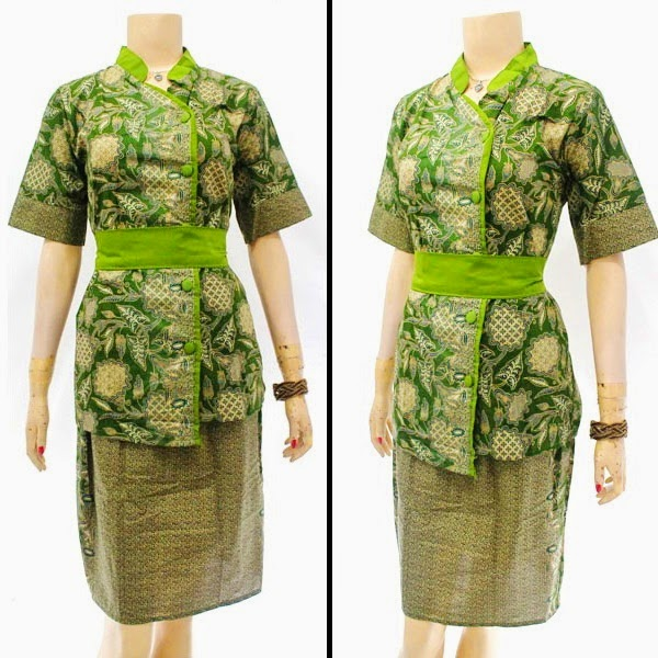 DB3819 Model Baju Dress Batik Modern Terbaru 2014
