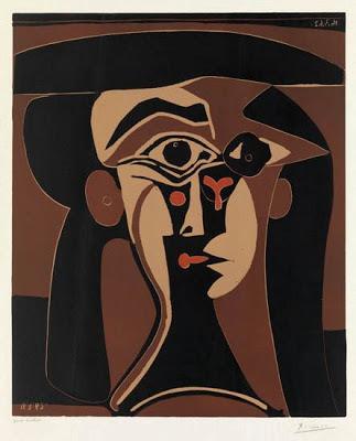 Pablo Picasso  - Tête de Femme