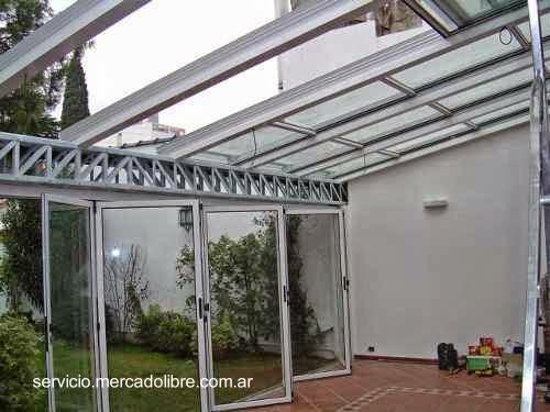 Cerramiento con perfil de aluminio y vidrios