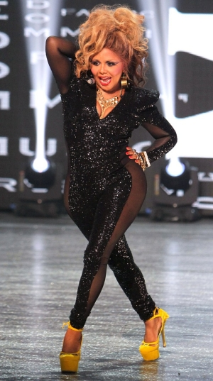 Get Close To The Look: Lil Kim Sequin Sheer Panel Jumpsuit