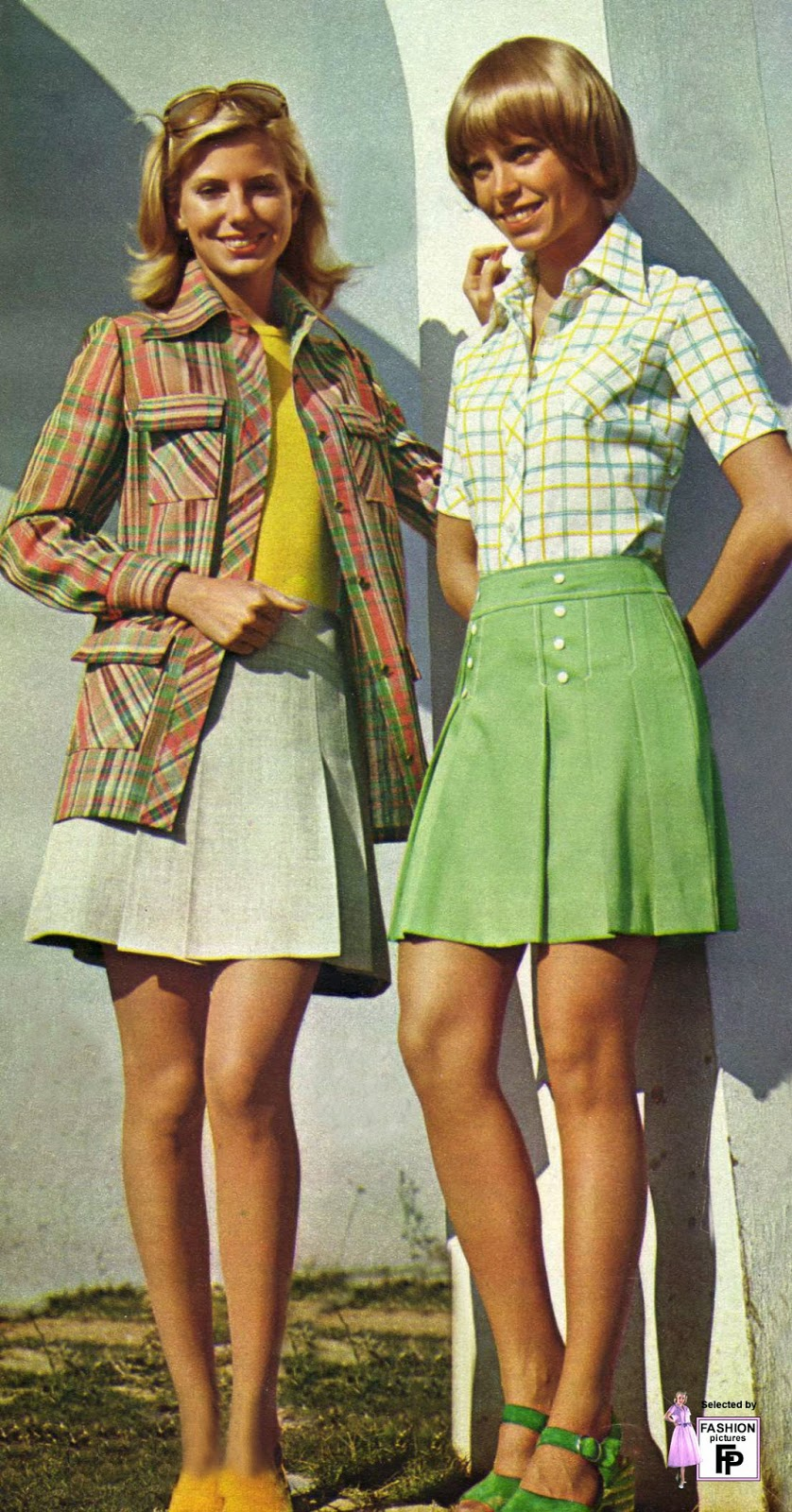 colorful womens street fashions in the early 1970s