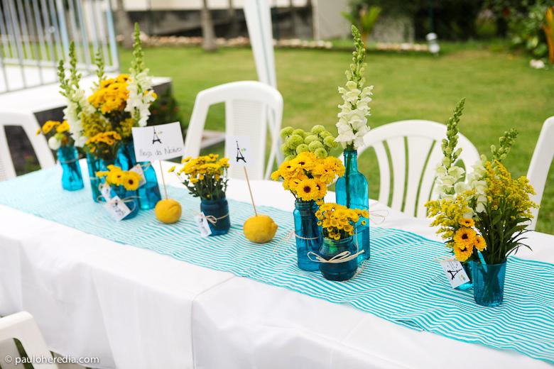 decoracao azul e amarelo noivado:Casada e Apaixonada: Decoração Azul e Amarelo