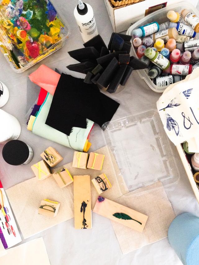 stamp and printmaking workshop