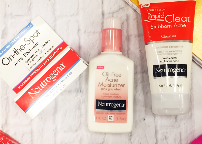 neutrogena back to school solve my acne skincare routine products blemish breakouts review treatment rapid clear stubborn acne cleanser schooledbybeauty