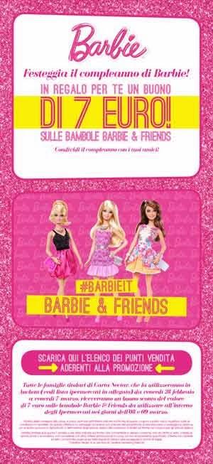 sconto 7 euro barbie