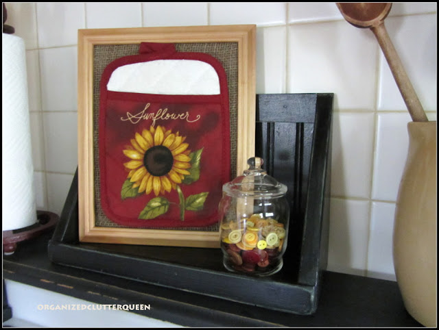Framed Sunflower Potholder