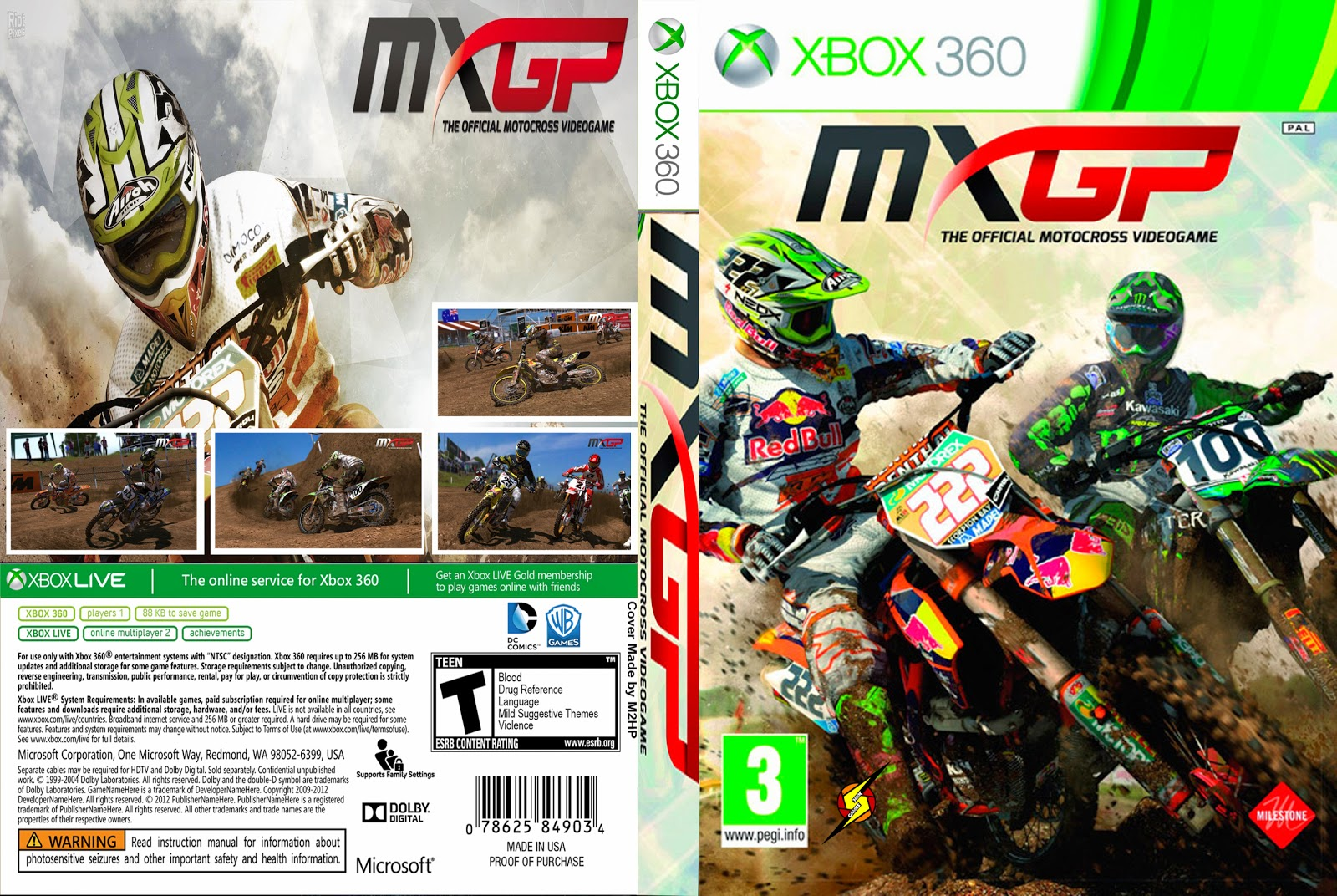 Capa MXGP The Official Motocross Videogame Xbox 360