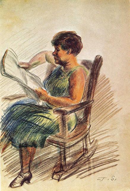 n.d. crayon sketch