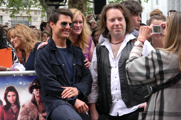 FM - Jim Kirkpatrick with Tom Cruise at Rock of Ages London Premiere