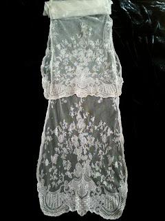 Salt Lamps Limerick : Rosemary Cathcart Antique Lace and Vintage Fashion: Antique Limerick Lace Stoles For Sale