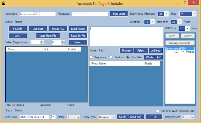 Facebook Fan Page Scheduler